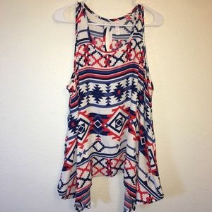 Xhilaration Red, White and Blue Top. Size XXL